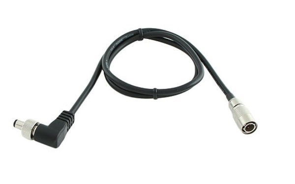 CABLE TECHNIQUES BB-HRS-SR-24 DC power cable, HRS / 2.1mm 90° locking coaxial plug, 61cm